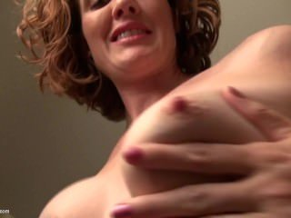 Curly Haired Redhead Mom Masturbating